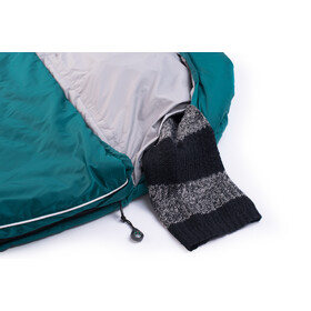 Grüezi-Bag Biopod Wool Goas Comfort Sleeping Bag, dark petrol